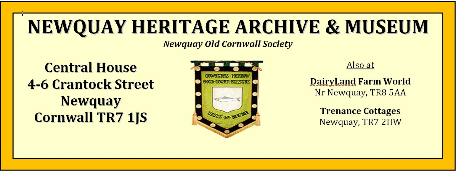 Newquay Heritage Archive and Museum Sponsor
