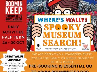 Where's Wally Spooky Search at Bodmin Keep 26   30 October!