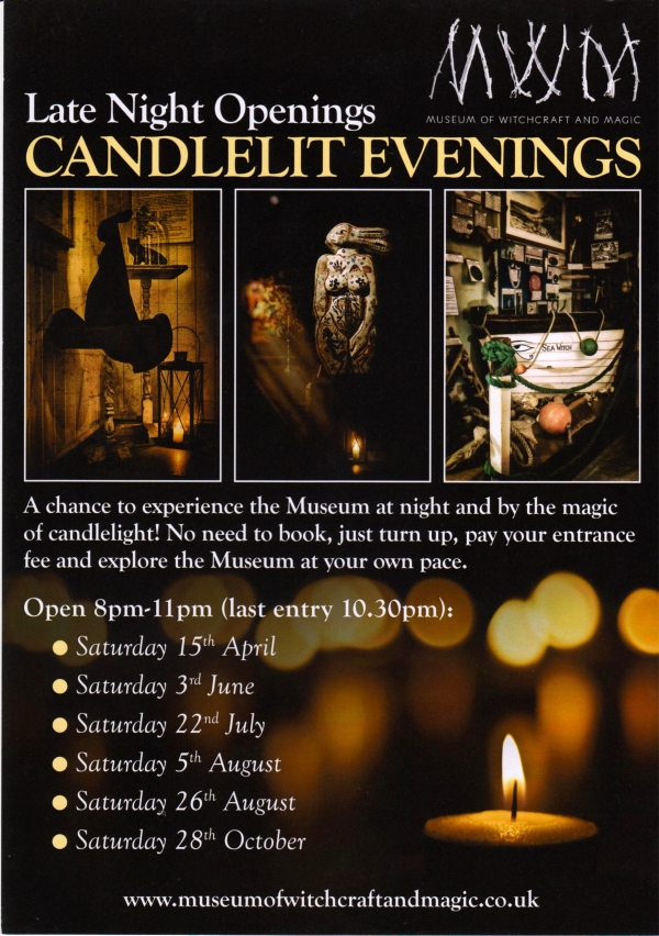 Late night candlelit evenings at the Museum of Witchcraft and Magic, Boscastle