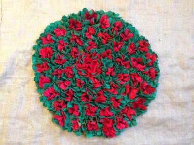 Community made Poppy wreath to be used as part of Hayle's Remembrance Day service