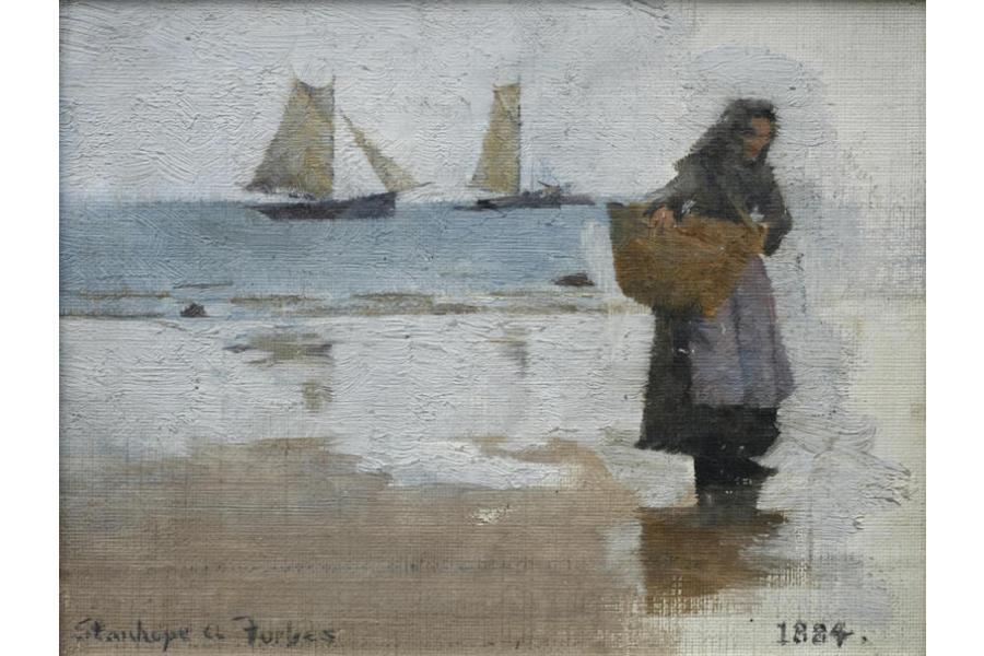 Fisherwoman on a Beach